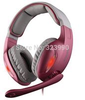 SADES SA902 Cobra 7.1 Channel Surround Sound USB Computer PC LED Encoding Stereo Studio Gaming Headset Headphone For DOTA LOL
