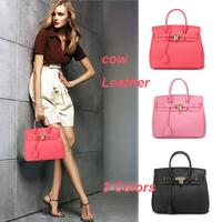 0701 Designer Genuine Leather Bag Women Leather Handbags Brand Women Messenger Bags Black Tote Lock Bolsas Femininas Fashion