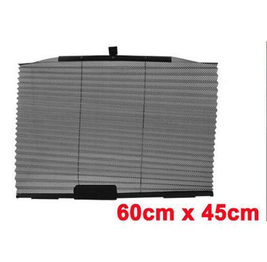 Car Interior Nylon Side Window Adhesive Foldable Sun Shade Black 60cm x 45cm(China (Mainland))
