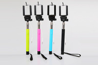 2014 new z07-5 plus ,Self Portrait Selfie Handheld Stick Monopod, Wired Audio Cable Take Pole ,z07-5plus For iPhone 6 Samsung