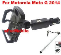 Dual USB Charger  Mobile Phone Car Charger Mobile phone Holder +stylus For Motorola Moto G (2014) (2nd Gen.)Moto G2 Moto G+1