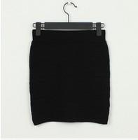 Wmen Pencil Skirt Knitted Basic Pleated MiniSkirt