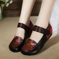 women's cowhide flats 100% genuine leather flats shoes low-heeled shoes handmade vintage shoes super comfortable flats shoes