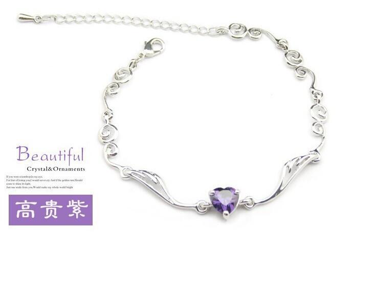 Women Angel wings Crystal zircon Bracelets Women Fashion Gifts link Bracelets(China (Mainland))