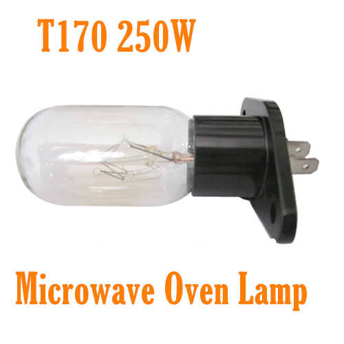 New Universal Microwave Oven Light Lamp Bulb T170 Base Design 240V 25W for Panasonic Daewoo Samsung Many Brands Free Shipping(China (Mainland))