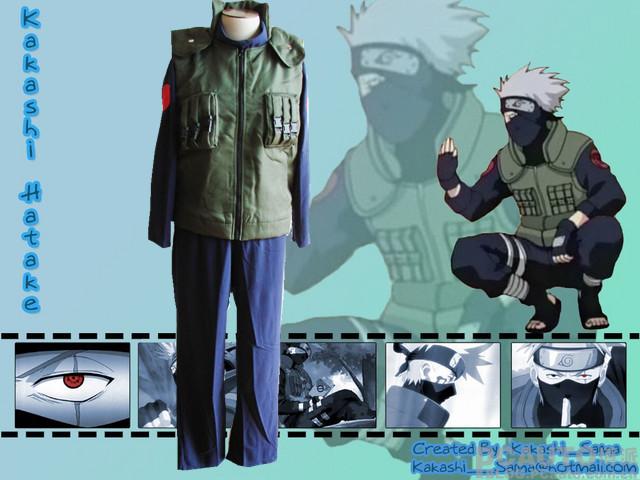 Animation cartoon naruto cosplay costume endure asma kakashi four generations on orders, naruto COS clothing(China (Mainland))