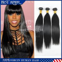 Top Grade 6A Malaysian Virgin Hair Straight 8-30 Inch Cheap Human Hair Extension Natural Black Color Straight Hair Weaves