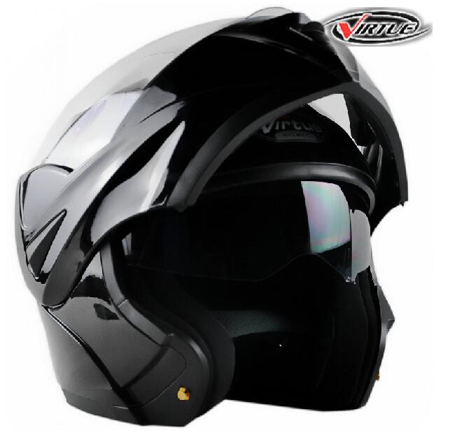 2014 Newest models Safe Flip Up Motorcycle Helmet racing helmet With Inner Sun Visor double lens Warm antifog size M.L.XL(China (Mainland))