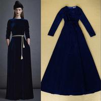 Latest Designs 2014 Woman's Noble Elegant Velour Long Dress Formal Evening Dresses F16482