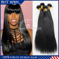 Malaysian Virgin Hair Straight 100% Unprocessed Malaysian human hair Grade 6A 4pcs one pack Virgin Malaysian Hair Weaving