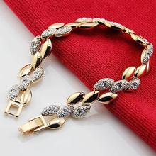 Chain Link Bracelet Women screw gold bracelet crystal pulseiras femininas New 2014 Accessorios para mulher SZ3510