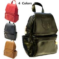 Korean Retro mochilas girl travel PU leather casual women backpack casual mochila