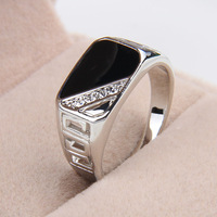 one piece fashion enamel men's zinc alloy 18/19/20/21 square hollow out crystal popular europe style rings xydr189