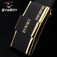 2014 new design Bywoky buckle first layer of cowhide strap cowhide belt male commercial men's strap copper belt Leather belt