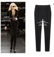 2014 European and American women's Slim was thin leggings feet thick velvet warm soild leg trousers pencil pants M-5XL