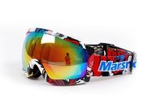 Winter Sport Polarized Ski Snowboard Snowmobile Anti-fog Dual Lens Motorcycle Motocross Black Colored Frame Snow Goggles Eyewear