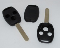 FOR HONDA ACCORD CIVIC 3 BUTTON REMOTE KEY FOB CASE + UNCUT BLADE BLANK