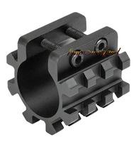 "Funpowerland Tactical 5 Position 1"" Mount 25mm Rail Tube Magazine Barrel Weaver Picatinny Light Laser Grip Aluminum Mount"