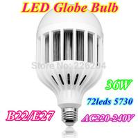 Free shipping Retail led Bubble Ball Bulb 36W E27/B22 High power lamp Globe light LED warm white/white CE RoHs approval