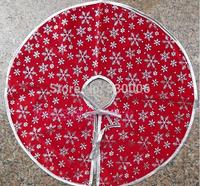 Christmas Decoration Supplies Snowflake Pattern Christmas Tree Skirt Quality Gold Velvet Diameter 55cm Christmas Gift