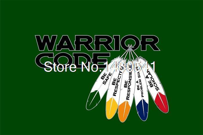 Big Pine School Warrior Code 3ft x 5ft Polyester Big Pine School Warrior Code Banner Flying Size No.4 144* 96cm Custom flag(China (Mainland))