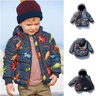 kids warm jacket/Children Snowsuit/Retail High quality fashion baby coat/Autumn winter cotton lining jacquard coat/New arrival