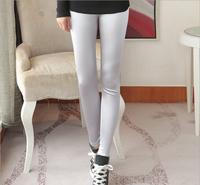 2014 winter new Korean high-grade silk satin leggings nine points was thin warm clothing