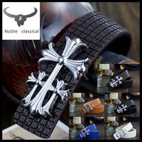 6 colors chose Classic alloy buckle 2014 fashion design Unisex leisure belt High quality Genuine Leather belt