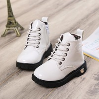 2014 autumn and winter new Korean version of the influx of people warm children's snow boots Martin boots Children