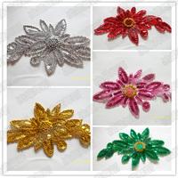 Dance headdress flower sequins patch applique Stage Decoration dance headdress show props dance clothes decoration flower