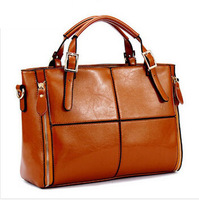 Real genuine leather bags women handbag fashion designer famous brand patchwork ladies tote shoulder bag bolsas  YK80-434