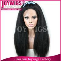 100% Brazilian virgin natural italian yaki lace wigs for black women in Stock Cheap Glueless italian yaki lace front wig