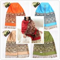 New Arrival Exquisite Bohemia Cotton Scarves&Showls For Women Long Mix Color Warm Tassel Pashmina Wholesale Accessory JZ101501