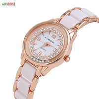Hot Sell! ANBOS Korea Jewelry Fashion Women Dress Rhinestone Business Watches Women Waterproof Ceramic Quartz watch