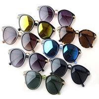 2014 Fashion Retro Vintage Round Sunglass Polarized Channele Sunglasse Women Men Eyeglasses Sports Motorcycle Coating Sunglasses