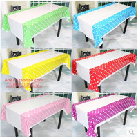 TR010 Colorful Polka Dots Plastic Table Cover Cloth for Kids Birthday Party Decoration Baby Shower Deco