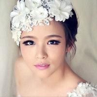 Free shipping Wedding for bride headdress handmade lace hair accessory wedding decoration hair accessory