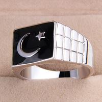 one piece fashion men's alloy 19/20/21 size glaze turkey flag finger ring free shipping xydr188