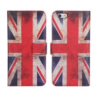 """New For Iphone 6 4.7"""" High quality US UK Flag case wallet design Magnetic Holster Flip Leather Phone Cases Cover Skin B242-A"""