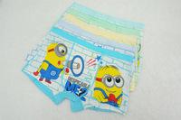 Free shipping 6pcs/lot baby boy cotton underwear kid cartoon panties Lovely Minions boy boxer briefs children fashion underpants