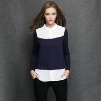 2014 antumn Hitz female Korean long-sleeved T-shirt Slim thin t-shirt bottoming shirt plus size women blouse
