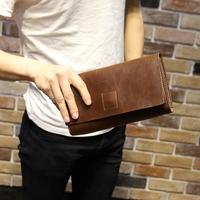 Fashion bag day clutches designer handbags high quality solid pu leather vintage envelope clutch elegant unisex clutch purses