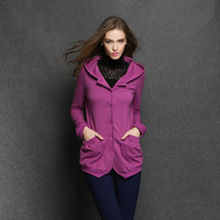 2014The new South Korean women's spring and autumn soild color iemparement applicable codes sweater coat  XL-4XL