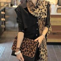 Free Shipping 2014 NEW HOT Fashion trendy Cozy  Women's long cotton Soft Scarves Muffler Leopard grain Chiffon Women Print Scarf