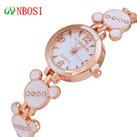 100% Quality! ANBOS Korea Fashion Women Dress Business Rhinestone Decoration Bracelets Watches Women Waterproof Quartz Watch