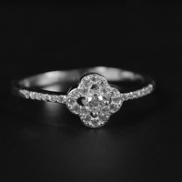 New 925 sterling silver rings for women in trend style flower shaped zircon fashion rings for birthday party or wedding