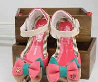 Girls sandals 2013 new princess  candy color bow shoes children's sandals