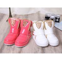 2015 new children's winter snow boots warm cotton-padded shoes girls cartoon fox