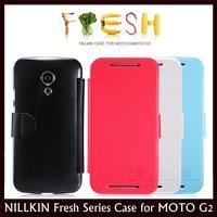 NILLKIN Fresh Series Sidde Open Flip Leather Case for MOTO G2, Moto G+1, XT1068, XT1069 + Retail + Free Shipping