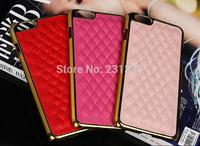 "Fashion For iphone 6 4.7"" / Plus 5.5'' Iphone6 Sheep Metallic Diamond Hybrid Leather Hard Plastic Case Chrome Alloy Skin 10pcs"